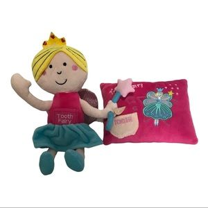 Tooth Fairy Plush Doll Princess with Picket & Tooth Fairy Pillow with Pocket